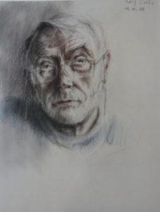 10 Selbstporträt mit geneigtem Kopf 2008 2