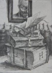 7 Kleines Wolfenbüttler Bücherstillleben mit Selbst 2002 2